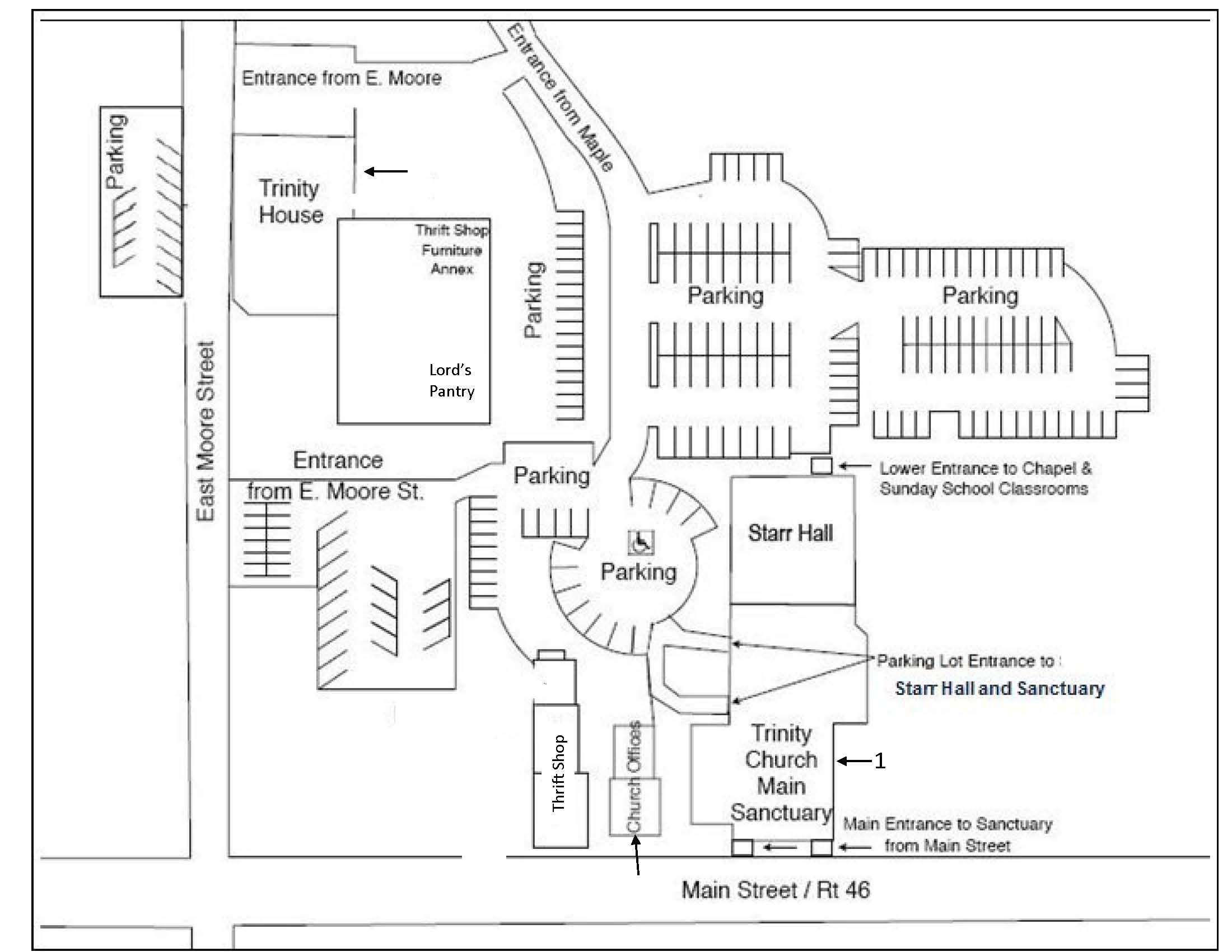 Trinity Church Campus Map May 2014