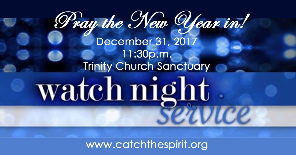 the sanctuary will be open for prayer from 1 pm december 31 to 1 pm january 1st