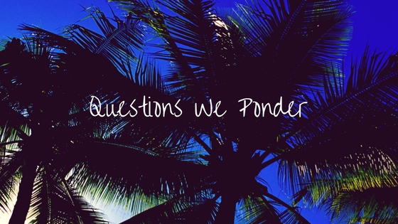 Questions We Ponder Sermon Series
