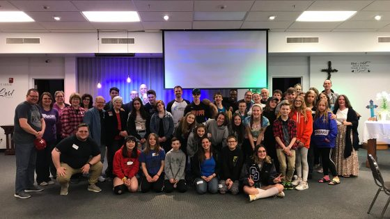 A group photo of students and leaders. Click this link to read more about our student ministry at Trinity church.