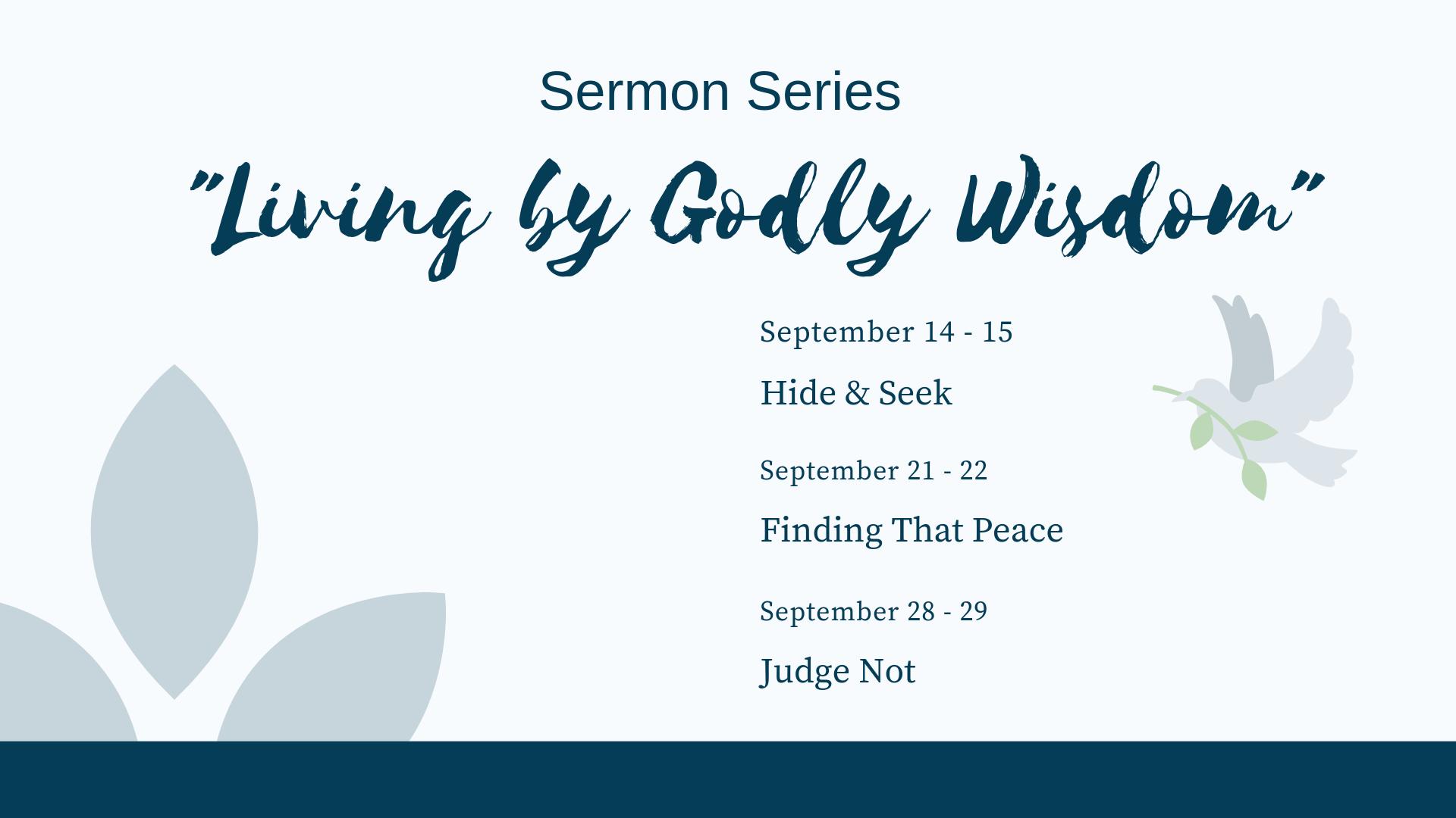 Living By Godly Wisdom