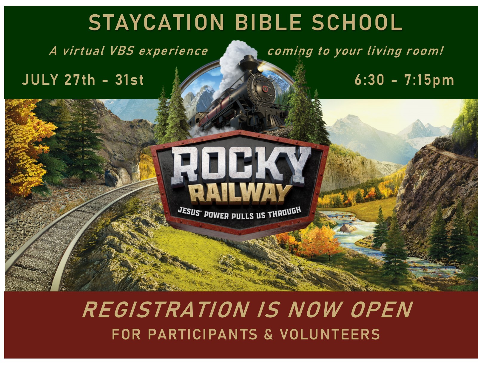 Online registration and information for VBS 2020